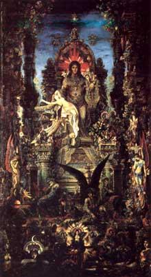 Gustave Moreau: Jupiter et Sémélé. 1895. Huile sur toile, 213 x 118. Paris, Musée Gustave Moreau