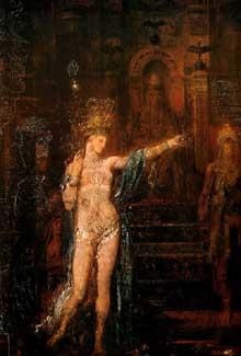 Gustave Moreau: Salomé tatouée. 1876. Huile sur toile. Paris, Musée Gustave Moreau