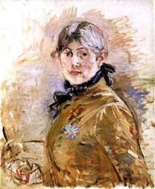 Berthe Morisot: Autoportrait.1885. Musée Marmottan, Paris