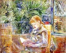 Berthe Morisot: Jeune fille lisant. 1888. Musée des Beaux-Arts, St-Petersbourg