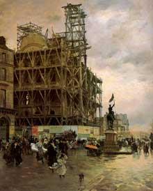 Giuseppe de Nittis: Place des Pyramides. 1875. Huile sur toile. Paris, Musée d'Orsay