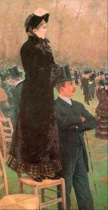 Giuseppe de Nittis: course de chevaux au Bois de Boulogne. 1881. Pastel. Rome, Galleria Nazionale d'Arte Moderna