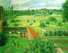 Camille Pissarro: Vue de ma fenêtre, Eragny sur Epte. 1886-1888. Oxford, Ashmolean Museum