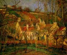 Camille Pissarro: les toits rouges. 1877 Huile sur toile 54 x 65 cm. Paris, Musée d'Orsay