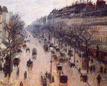 Camille Pissarro: Boulevard Montmartre, Matin d'Hiver. 1897. Huile sur toile 65 x 81 cm. New York, Metropolitan Museum?