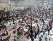 Camille Pissarro : Boulevard des Italiens, matin, soleil. 1897. Huile sur toile, 92 cm x 73 cm. Washington, National Gallery of Art