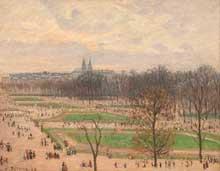 Camille Pissarro: Le jardin des Tuileries un après-midi d'hiver. 1899. Huile sur toile. New York, Metropolitan Museum of Art