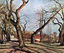Camille Pissarro: bois de châtaigniers à Louveciennes. 1872. Huile sur toile 41 x 54 cm. Collection particulière