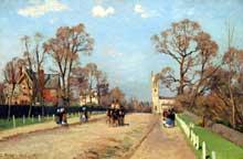 Camille Pissarro: l'avenue, paysage à Sydenham. 1871. Huile sur toile, 73 cm x 48 cm. Londres, National Gallery