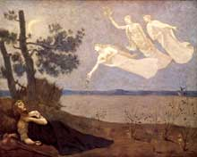 Pierre Puvis de Chavannes: Le Rêve. 1883. Huile sur toile, 82 x 102 cm. Baltimore, Walters Art Museum