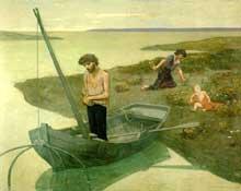 Pierre Puvis de Chavannes: Le Pauvre Pêcheur. 1881. Huile sur toile, 155 x 192 cm. Paris, Musée d'Orsay