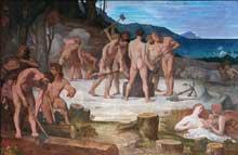 Pierre Puvis de Chavannes: Le Travail. 1863. Huile sur toile. Musée de Picardi