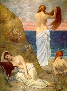 Pierre Puvis de Chavannes: jeunes filles au bord de la mer. 1879. Huile sur toile. Paris, musée d'Orsay