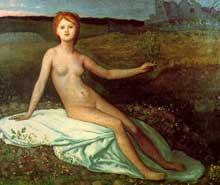 Pierre Puvis de Chavannes: l'espoir. 1872. Huile sur toile. Paris, musée d'Orsay