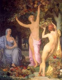 Pierre Puvis de Chavannes: l'Automne. 1864. Huile sur toile, 285 x 226 cm. Lyon, Musée des Beaux arts.