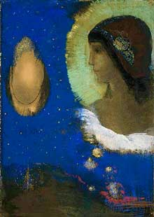 Odilon Redon : Sita, 1893. Pastel, 53,6cm x 37,7 cm.  The Art Institute Of Chicago