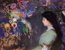 Odilon Redon: Portrait de Violette Heymann. 1910. Pastel, 72 × 92 cm. Cleveland, Museum of Art