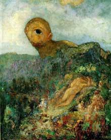 Odilon Redon: le cyclope. Ver 1914. Huile sur toile, 64 x 51 cm. Museum Kroller-Mueller, Otterlo, The Netherland