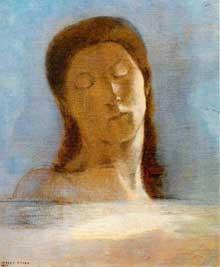 Odilon Redon: les yeux clos, 1890. Huile sur toile. Paris, Musée d´Orsay
