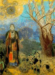 Odilon Redon: Le Bouddha. Vers 1905. Pastel sur papier 98 x 73 cm. Paris, Musée d'Orsay