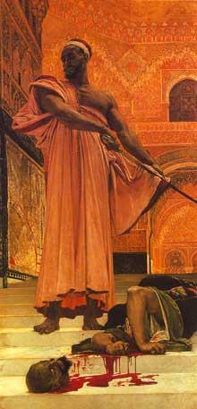 Henri Regnault: Exécution sans jugement sous les rois maures de Grenade. Paris, Musée d'Orsay