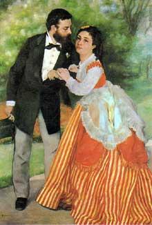 Auguste Renoir: Les fiancés, dit «le ménage Sisley». 1868. Cologne, Wallraf-Richartz Museum