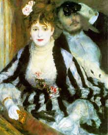 Auguste Renoir : La loge. 1874. Londres, Courtauld Institute Galleries