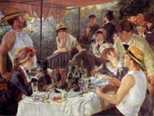 Auguste Renoir : Le déjeuner des canotiers. 1881. Huile sur toile, 129,5 × 172,5 cm. Washington, The Phillips Collection