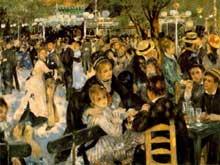 Auguste Renoir: le moulin de la Galette. 1876. Huile sur toile, 131 x 175 cm. Paris, musée d'Orsay