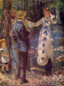 Auguste Renoir: la balançoire. 1876. Huile sur toile, 92 x 73 cm. Paris, Musée d'Orsay
