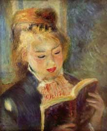 Auguste Renoir: jeune fille lisant. 1874-1876. Huile sur toile, 46,5 x 38,5 cm. Paris, Musée d'Orsay
