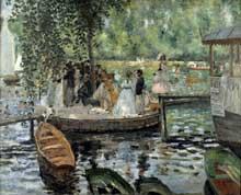 Auguste Renoir: la Grenouillère. 1869.Huile sur toile, 81 x 66 cm. Stockholm, Nationalmuseum