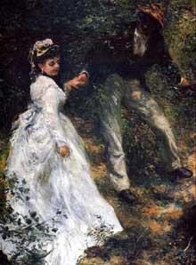 Auguste Renoir: Les parapluies. 1880 - 1885. Huile sur toile, 180 x 115 cm. Londres, National Gallery