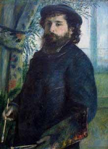 Auguste Renoir: Claude Monet. 1875. Huile sur toile, 61 cm x 85 cm. Paris, Musée d'Orsay