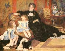 Auguste Renoir: madame Georges Charpentier (Marguerite-Louise Lemonnier, 1848-1904) et ses enfants, Georgette-Berthe (1872-1945) et Paul-Emile-Charles (1875-1895). 1878. Huile sur toile. New York, Metropolitan Museum of Art