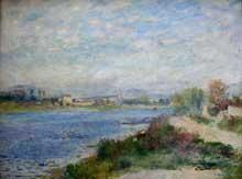 Auguste Renoir: La Seine à Argenteuil. Vers 1873. Huile sur toile, 65 cm x 47 cm. Paris, Musée d'Orsay
