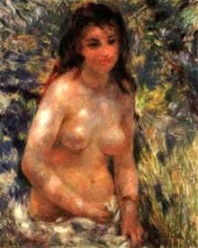 Auguste Renoir: étude de torse. Vers 1876. Huile sur toile, 65 cm x 81 cm. Paris, Musée d'Orsay