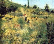 Auguste Renoir: Chemin montant dans les hautes herbes. 1874-1876. Huile sur toile, 60 x 74 cm. Paris, Musée d'Orsay