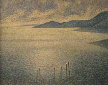 Théo Van Rysselberghe: Paysage côtier. 1892. Huile sur toile, 61 x 51 cm. Londres, National Gallery