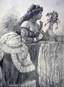 Félicien Rops: la dame au pantin. Namur, musée Félicien Rops