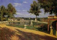 Henri Rouart (1833-1912): la terrasse au bord de la Seine à Melun. 1880. Huile sur toile, 46,5 cm x 65,5 cm. Paris, musée d'Orsay