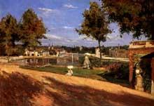 Stanislas-Henri Rouart: La Terrasse au bord de la Seine à Melun. 1880. Huile sur toile, 46.5 x 65.5 cm. Paris, Musée d'Orsay