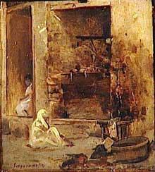Jean Seignemartin: boucherie à Alger. Etude