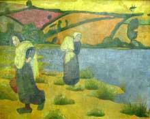 Paul Sérusier: les laveuses à la Laïta. 1892. Huile sur toile, 92 x 73 cm. Paris, Musée d'orsay