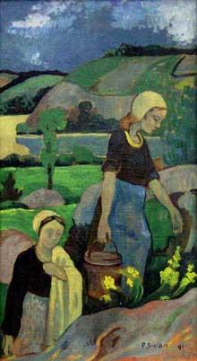 Paul Sérusier: les laveuses. 1891. Huile sur toile. Munich, Neue Pinakothek