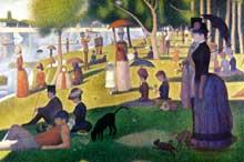 Georges Seurat: un dimanche après midi sur l'île de la Grande Jatte. 1884-1886. Huile sur toile, 205,7 x 305,8 cm. Chicago, art institute