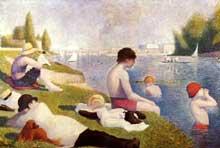Georges Seurat: une baignade à Asnières. 1883-1884. Huile sur toile, 200 x 300 cm. Londres, National Gallery
