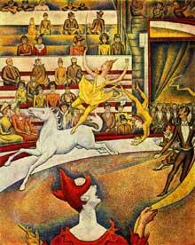Georges Seurat: Le Cirque. 1891. Huile sur toile, 185 x 152 cm.  Paris, Musée d'Orsay