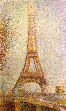 Georges Seurat: la tour Eiffel. 1889. Huile sur toile, 24 x 15,2 cm. San Francisco, Fine Arts Museum