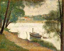 Georges Seurat: eaux grises, la Grande Jatte. 1888. Huile sur toile. Philadelphia Museum of Art.